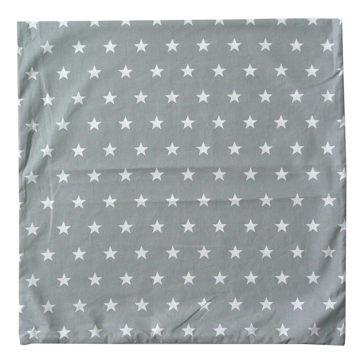 sch ner leben kissenh lle grau sterne wei 50x50cm farbwelten pastellt ne. Black Bedroom Furniture Sets. Home Design Ideas